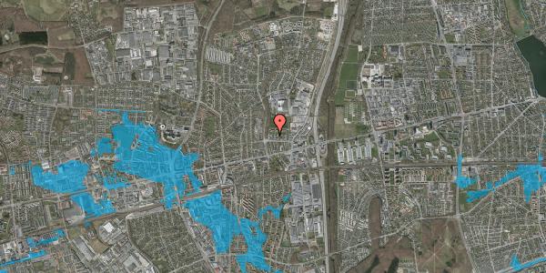 Oversvømmelsesrisiko fra vandløb på Dalvangsvej 48, st. 2, 2600 Glostrup