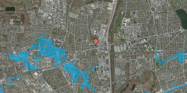 Oversvømmelsesrisiko fra vandløb på Dalvangsvej 55, st. tv, 2600 Glostrup