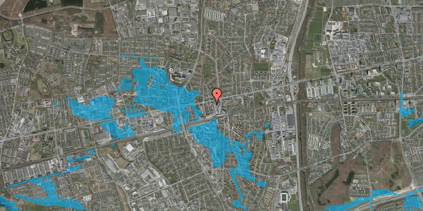 Oversvømmelsesrisiko fra vandløb på Glostrup Torv 8, 2. tv, 2600 Glostrup