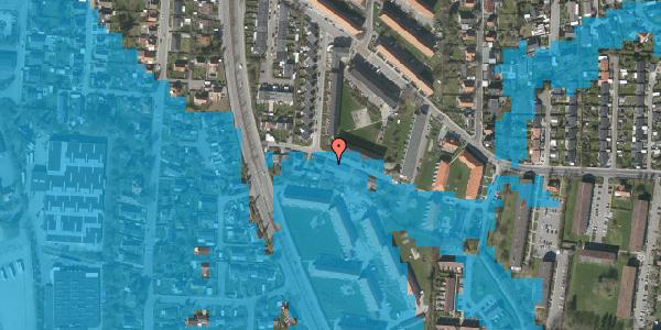 Oversvømmelsesrisiko fra vandløb på Gyvelvej 13A, 2600 Glostrup