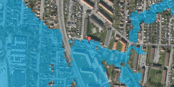 Oversvømmelsesrisiko fra vandløb på Gyvelvej 13C, 2600 Glostrup