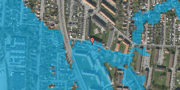 Oversvømmelsesrisiko fra vandløb på Gyvelvej 13E, 2600 Glostrup
