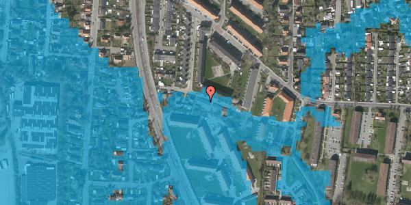 Oversvømmelsesrisiko fra vandløb på Gyvelvej 13F, 2600 Glostrup