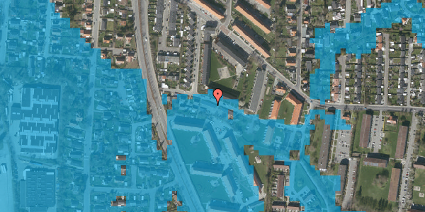 Oversvømmelsesrisiko fra vandløb på Gyvelvej 13G, 2600 Glostrup