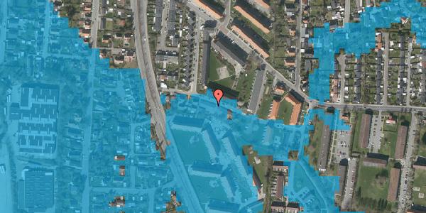 Oversvømmelsesrisiko fra vandløb på Gyvelvej 13H, 2600 Glostrup