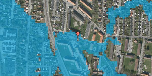 Oversvømmelsesrisiko fra vandløb på Gyvelvej 13L, 2600 Glostrup