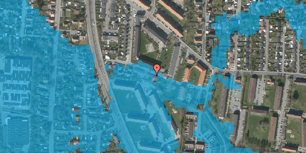 Oversvømmelsesrisiko fra vandløb på Gyvelvej 13N, 2600 Glostrup