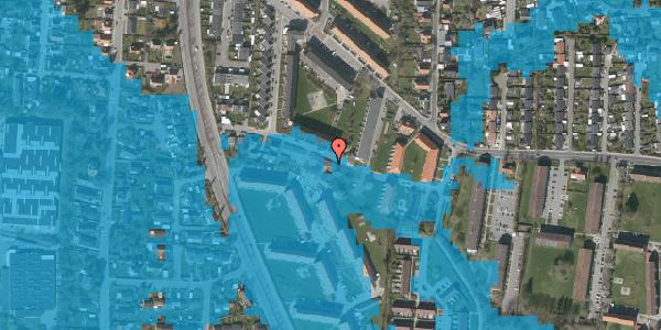 Oversvømmelsesrisiko fra vandløb på Gyvelvej 13Q, 2600 Glostrup