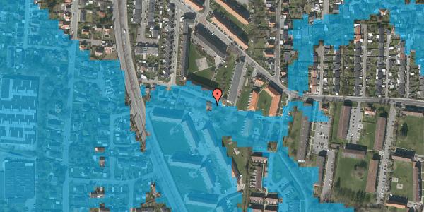 Oversvømmelsesrisiko fra vandløb på Gyvelvej 13R, 2600 Glostrup