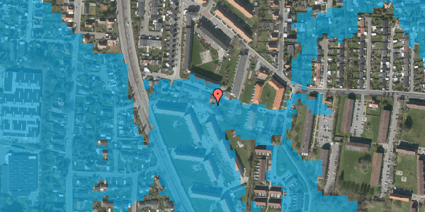 Oversvømmelsesrisiko fra vandløb på Gyvelvej 13T, 2600 Glostrup