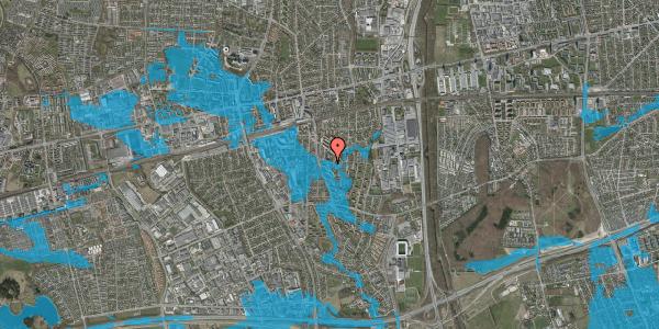 Oversvømmelsesrisiko fra vandløb på Gyvelvej 13U, 2600 Glostrup