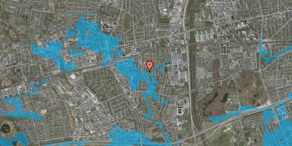 Oversvømmelsesrisiko fra vandløb på Gyvelvej 13V, 2600 Glostrup