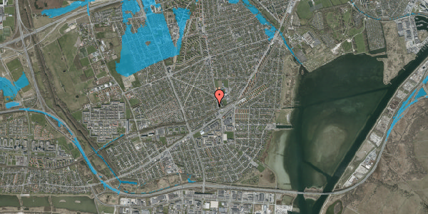 Oversvømmelsesrisiko fra vandløb på Achilles Alle 12, 2650 Hvidovre