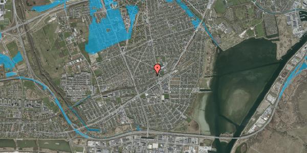 Oversvømmelsesrisiko fra vandløb på Achilles Alle 13, 2650 Hvidovre