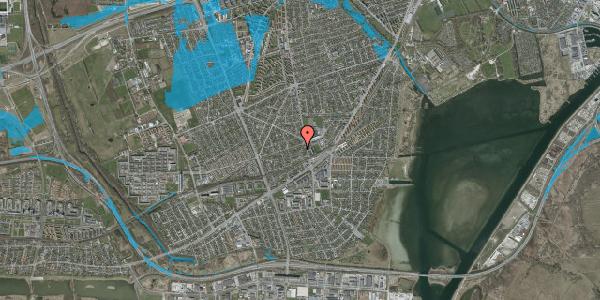 Oversvømmelsesrisiko fra vandløb på Achilles Alle 17B, 2650 Hvidovre