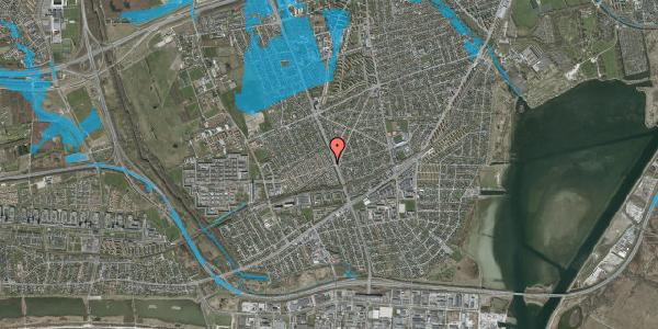 Oversvømmelsesrisiko fra vandløb på Agerbækvej 4, 2650 Hvidovre