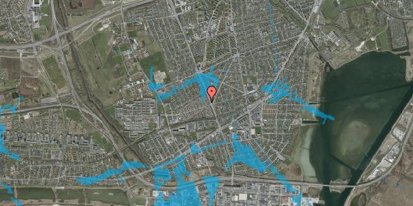 Oversvømmelsesrisiko fra vandløb på Agerbækvej 8, 2650 Hvidovre