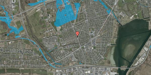 Oversvømmelsesrisiko fra vandløb på Agerbækvej 10, 2650 Hvidovre