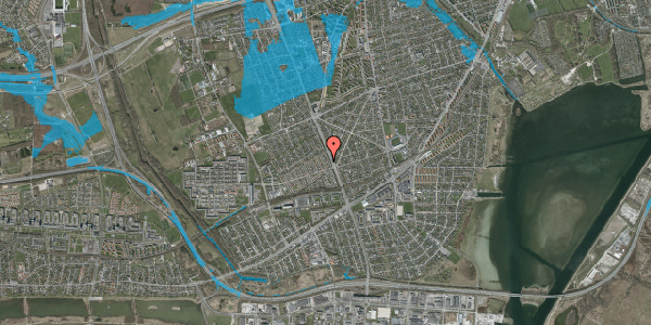 Oversvømmelsesrisiko fra vandløb på Agerbækvej 12, 2650 Hvidovre