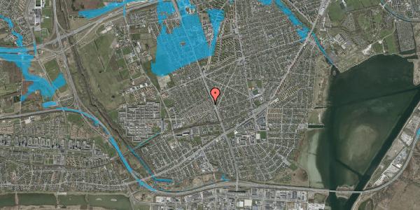 Oversvømmelsesrisiko fra vandløb på Agerbækvej 14, 2650 Hvidovre