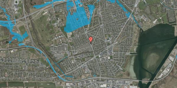 Oversvømmelsesrisiko fra vandløb på Agerbækvej 18, 2650 Hvidovre