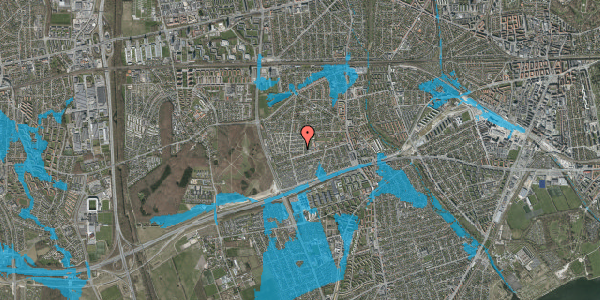 Oversvømmelsesrisiko fra vandløb på Agermosen 6, 2650 Hvidovre