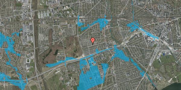 Oversvømmelsesrisiko fra vandløb på Agermosen 7, 2650 Hvidovre