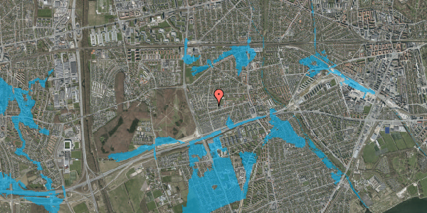 Oversvømmelsesrisiko fra vandløb på Agermosen 10, 2650 Hvidovre