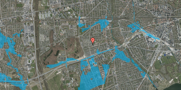 Oversvømmelsesrisiko fra vandløb på Agermosen 14, 2650 Hvidovre