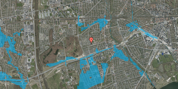 Oversvømmelsesrisiko fra vandløb på Agermosen 15, 2650 Hvidovre