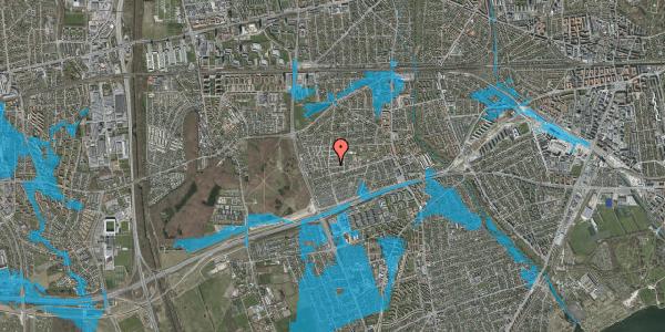 Oversvømmelsesrisiko fra vandløb på Agermosen 18, 2650 Hvidovre