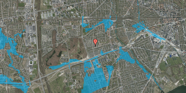 Oversvømmelsesrisiko fra vandløb på Agermosen 19, 2650 Hvidovre