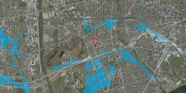 Oversvømmelsesrisiko fra vandløb på Agermosen 25, 2650 Hvidovre