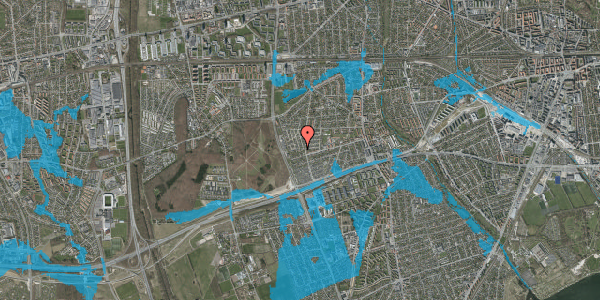 Oversvømmelsesrisiko fra vandløb på Agermosen 29, 2650 Hvidovre