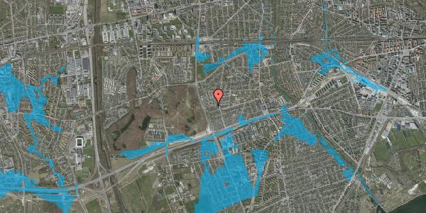 Oversvømmelsesrisiko fra vandløb på Agermosen 35, 2650 Hvidovre