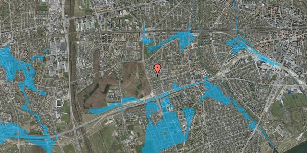 Oversvømmelsesrisiko fra vandløb på Agermosen 36, 2650 Hvidovre