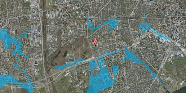 Oversvømmelsesrisiko fra vandløb på Agermosen 38, 2650 Hvidovre