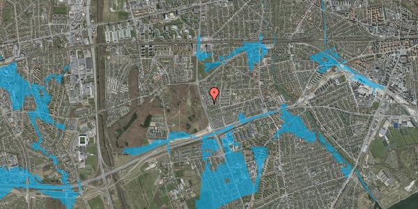 Oversvømmelsesrisiko fra vandløb på Agermosen 40, 2650 Hvidovre