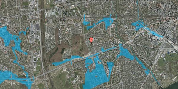 Oversvømmelsesrisiko fra vandløb på Agermosen 45, 2650 Hvidovre