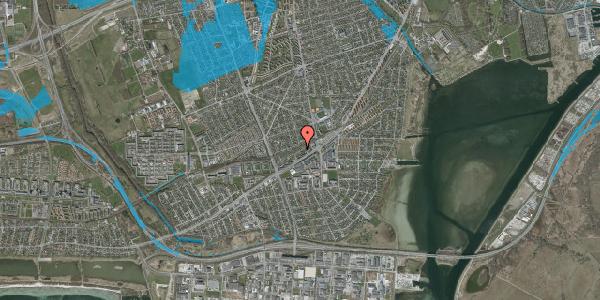 Oversvømmelsesrisiko fra vandløb på Ajax Alle 18, 2650 Hvidovre