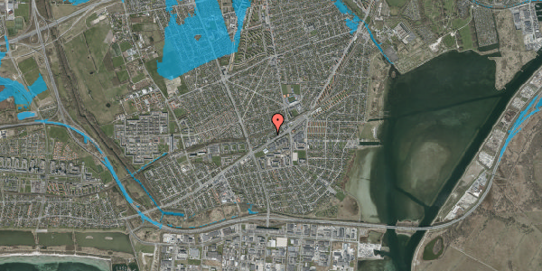 Oversvømmelsesrisiko fra vandløb på Ajax Alle 21, 2650 Hvidovre