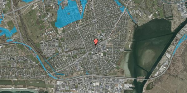 Oversvømmelsesrisiko fra vandløb på Ajax Alle 22, 2650 Hvidovre