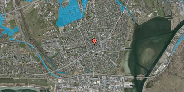 Oversvømmelsesrisiko fra vandløb på Ajax Alle 30, 2650 Hvidovre