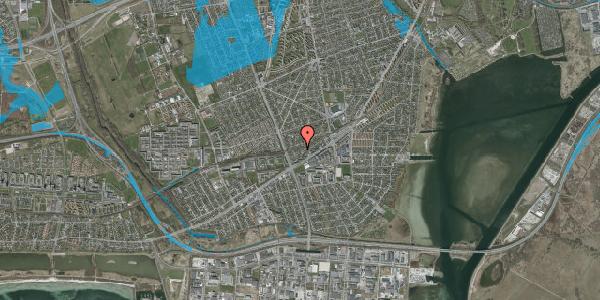 Oversvømmelsesrisiko fra vandløb på Ajax Alle 36, 2650 Hvidovre