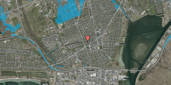 Oversvømmelsesrisiko fra vandløb på Ajax Alle 48, 2650 Hvidovre