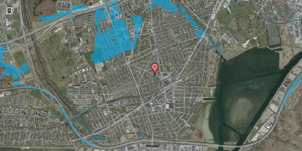 Oversvømmelsesrisiko fra vandløb på Aktæons Alle 3, 2650 Hvidovre