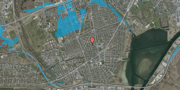 Oversvømmelsesrisiko fra vandløb på Aktæons Alle 6, 2650 Hvidovre