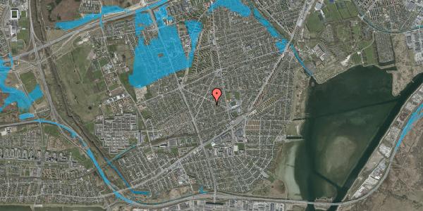 Oversvømmelsesrisiko fra vandløb på Aktæons Alle 8, 2650 Hvidovre