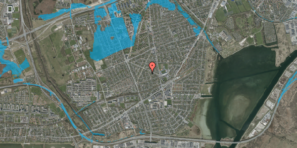 Oversvømmelsesrisiko fra vandløb på Aktæons Alle 10, 2650 Hvidovre
