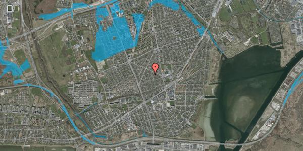Oversvømmelsesrisiko fra vandløb på Aktæons Alle 12, 2650 Hvidovre